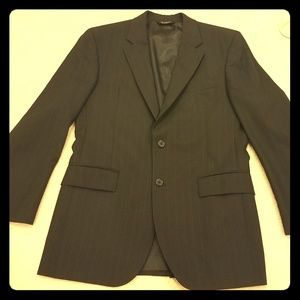 Black pinstripe Jos. A Bank Suit jacket and pants